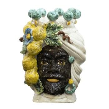 Testa siciliana con limoni uomo