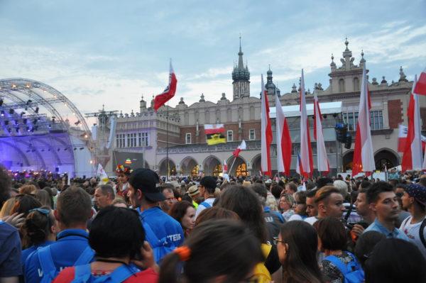 Place centrale du vieux Cracovie
