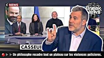 """Le philosophe Vincent Cespedes sur le plateau (complètement médusé) de CNEWS : """"Je comprends la violence"""" des pauvres"""
