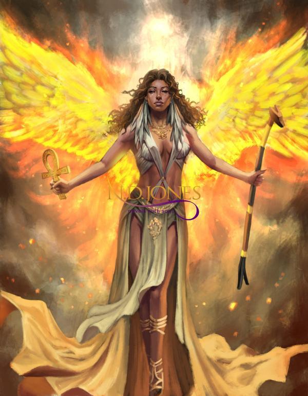 Fire Phoenix Ma'at Death nd Destiny Black Fantasy Romance by ND Jones