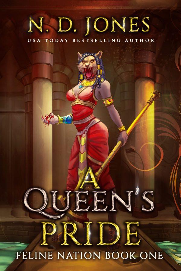 A Queen's Pride Goddess Sekhmet Cover Black Fantasy ND Jones