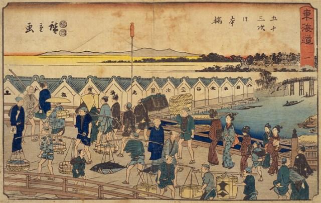 Ukiyo-e of Nihonbashi