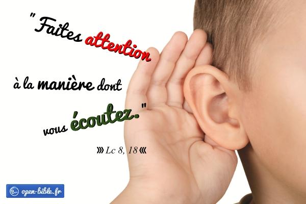 Une oreille absolue ? chapitre 8 de l'Évangile selon saint Luc. -  Communauté Saint Jean-Baptiste de LASSIGNY