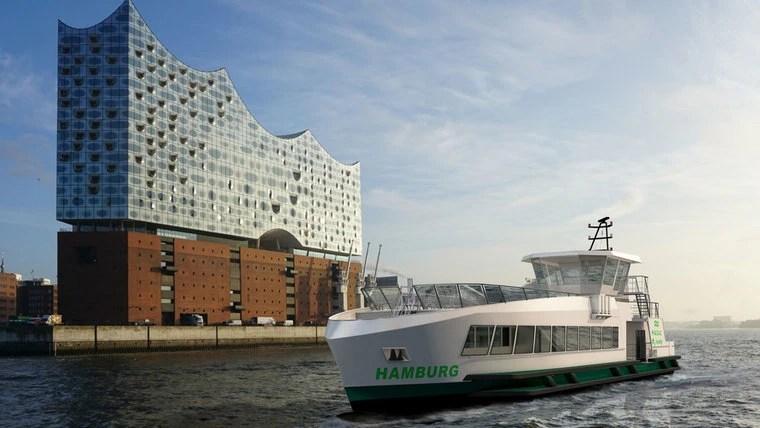 Hamburg bekommt Wasserstoff-Hafenfähren