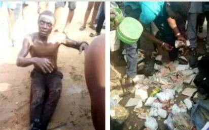 Man Caught Picking Used Sanitary Pads And Pampers In DELSU