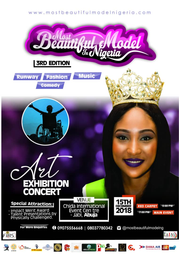 Most Beautiful Model In Nigeria Finalists Emerge As Grand Finale Holds 15th December 1