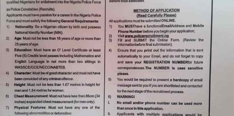 How To Apply For Nigeria Police Force (NPF) Recruitment 2019