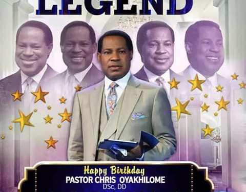 Pastor Chris Oyakhilome Celebrates His 55th Birthday Today: Happy Birthday Great man of God
