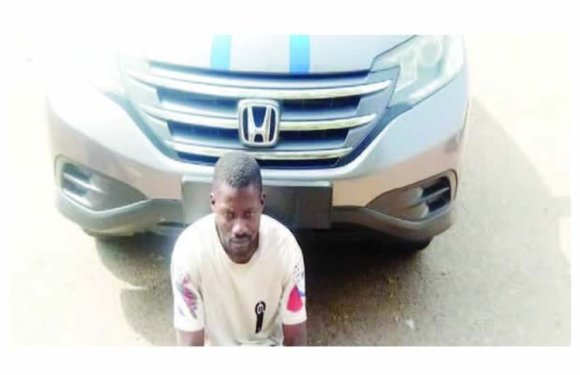Driver Absconds With Boss' Car In Ibadan, Arrested In Akwa Ibom (Photo)
