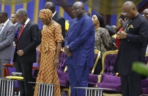 Udom Emmanuel, Osinbajo, His Wife And Ambode Attend 'Holy Ghost Service' At RCCG Camp (Photo)