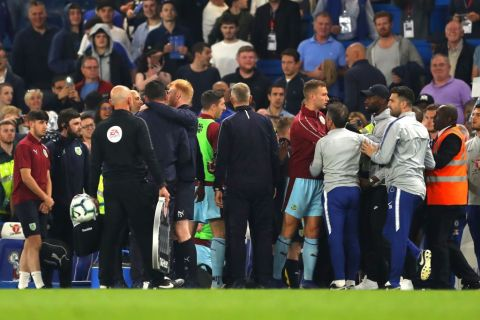 What Burnley said to Chelsea boss Maurizio Sarri to spark melee