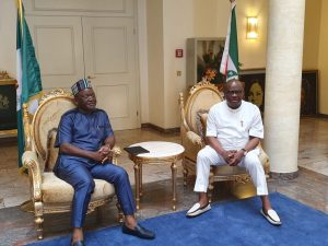 Ortom, Wike meet in Port Harcourt