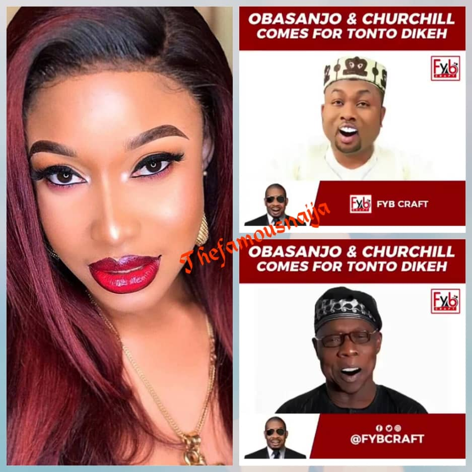 View this post on Instagram Nigerians Are very funny people #TontoDikeh #OlakunleChurchill #Churchill #Obasanjo #olusegunobasanjo A post shared by TheFamousNaija (@thefamousnaija) on May 3, 2019 at 6:04am PDT