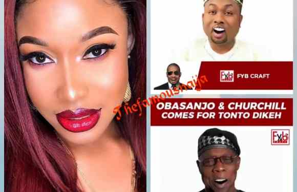 Obasanjo And Churchill 'Come For' Tonto Dikeh In An Edited Video (Photos)