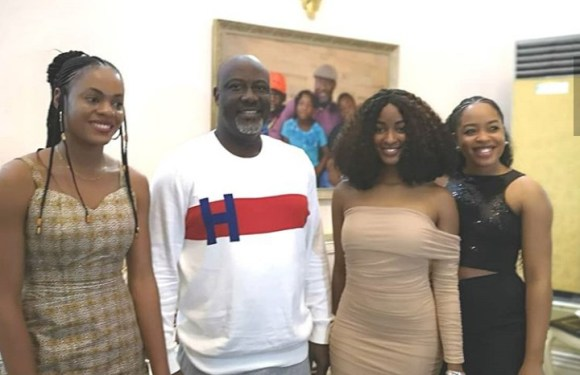 BBNaija: Gedoni, Jackye, Joe, other evicted housemates visit Dino Melaye [PHOTOS]