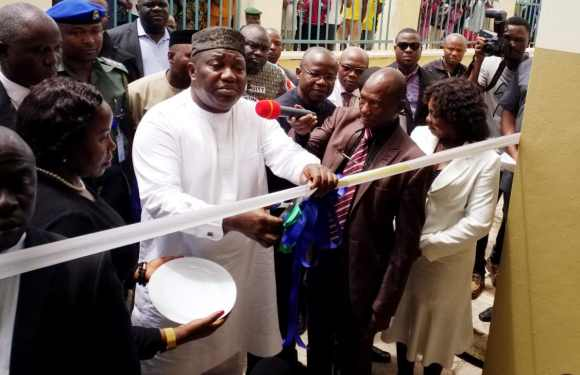 Ugwuanyi inaugurates upgraded Poly, Udi General Hospitals