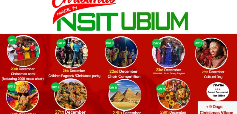 Nsit Ubium comes alive with 'Christmas Made in Nsit Ubium'