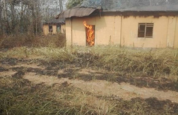 Fire Guts Games Village In Abia (Photos)