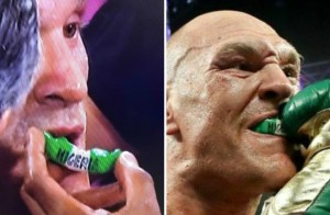 Is Tyson Fury asking for a fight with Anthony Joshua after defeating Deontay Wilder with 'Nigeria' gumshield?