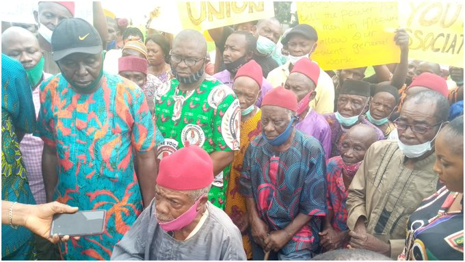 Man, 91 leads protest to Obiano over trouble in Anambra community