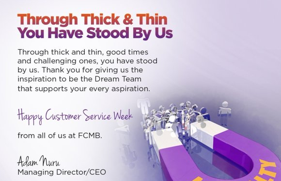 FCMB celebrates spirit of team work, commits to excellent service