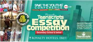 Teenscript Essay Competition: Save the Youths Conference 2021 births new segment