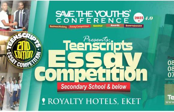 Teenscript Essay Competition: Save the Youths Conference 2021 births new segment (Details)