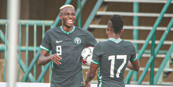 AFCON 2022: Super Eagles Ends Qualifying Series With Emphatic 3-0 Win Over Lesotho (Goals Highlights)