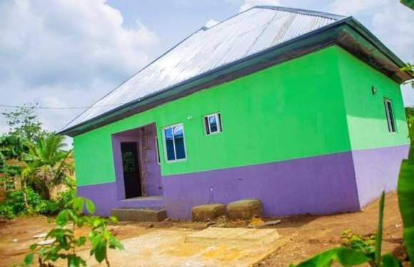 Gov. Udom's aide, Utang Akwa Ibom wipes widow's tears, builds her new house in 6 months (pictures)