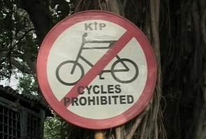 Ban to bicycles in Kolkata