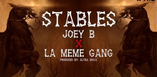 Joey B - Stables ft. La meme Gang Lyrics Video