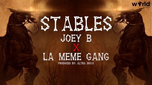 Joey B - Stables ft. La meme Gang Lyrics Video