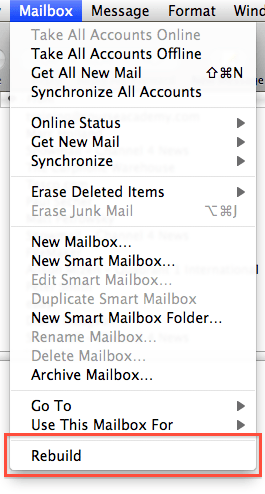 Apple Mailbox Menu