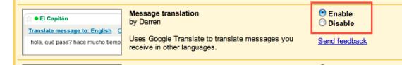 Google Translate in Gmail