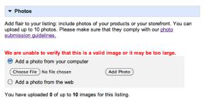 Google Places Image Upload Error