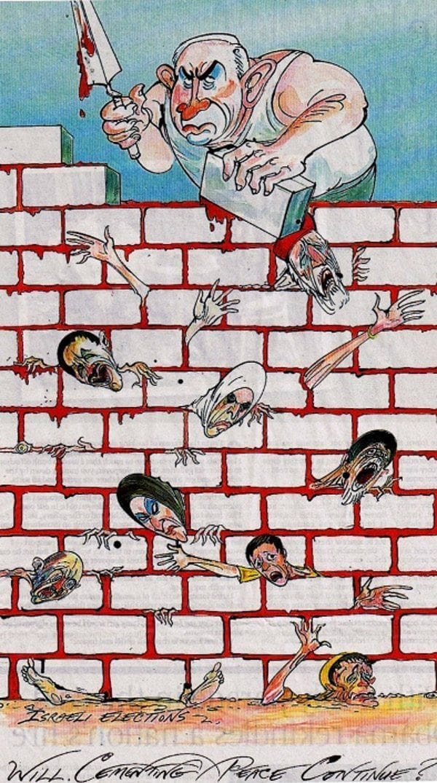 Will you tell God: anti-Netanyahu cartoon by Gerald Scarfe.