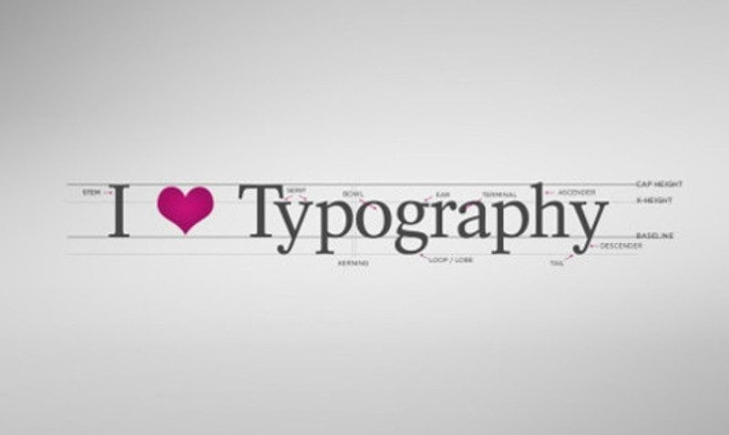 Typography header530