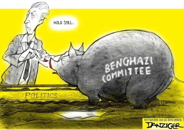 Trent Gowdy, Benghazi committee, lipstick on a pig, political committee, political cartoon