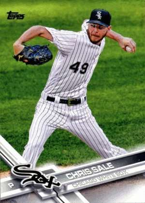 WAA: Topps 2017 bubblegum/trading card of Chris Sale.