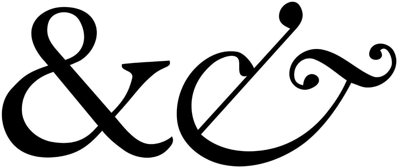 Typography Garamond Ampersand 1500