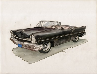 57 Lincoln Illustration