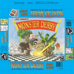 Monster Derby box top design