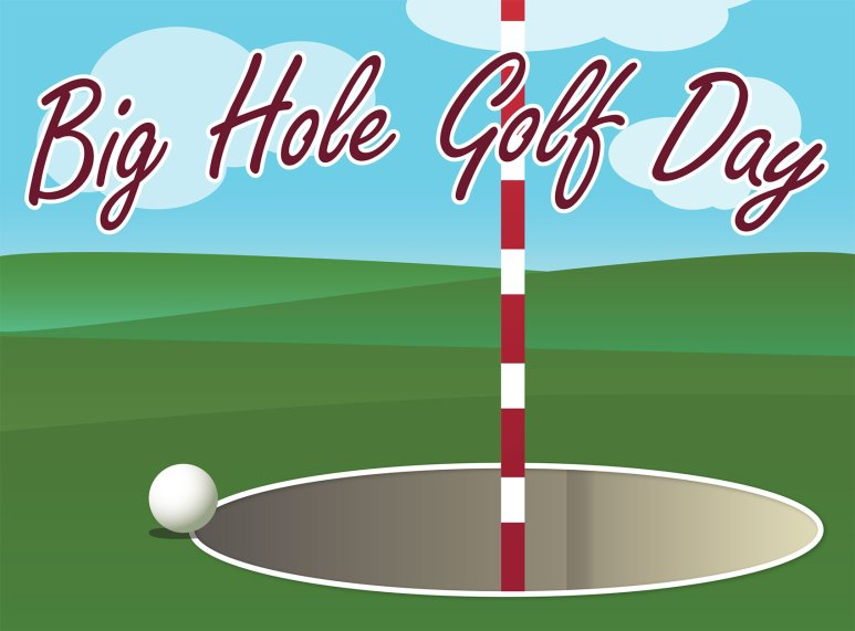 Big Hole Golf flyer art