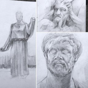 Getty Villa sketches