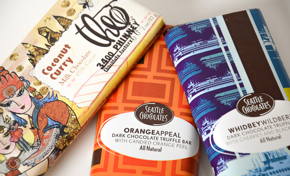 Three curious chocolate bars from Seattle