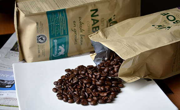 Nabob Guatemala and Costa Rica coffee beans