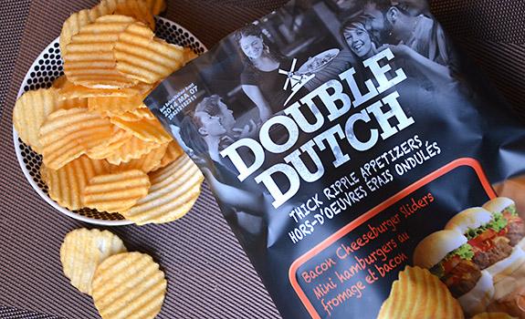 Double Dutch Bacon Cheeseburger Sliders potato chips