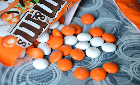 Orange M&M's from Australia