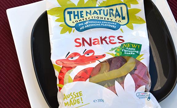 Gummy snakes from Australia