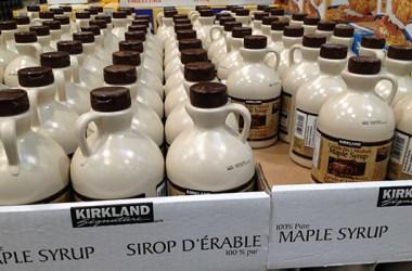 Kirkland Signature maple syrup at Costco